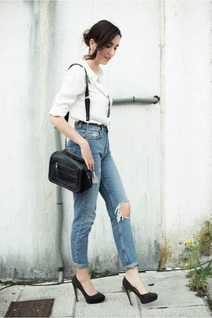 Zara shirt - pull&bear jeans - Zara bag - Zara heels