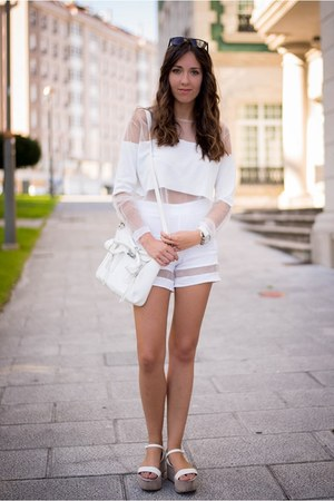 Zara shorts - 31 Phillip Lim bag - Zara wedges - Zara top