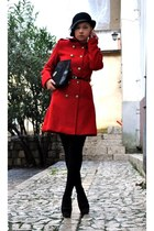 red Sheinside coat