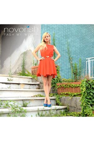 red Novorish dress