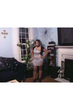 silver Bebe dress - black