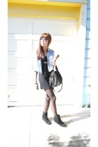 aquamarine Lush top - black minnetonkas shoes