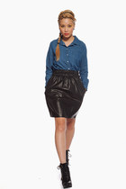 leather skirt Violet Boutique skirt