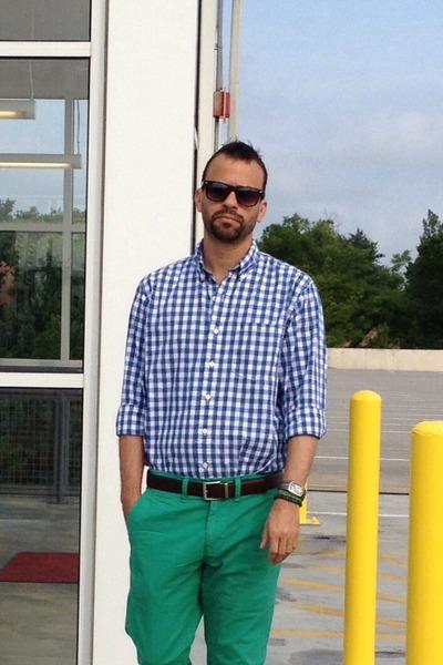 Images of Mens Green Pants - Kianes