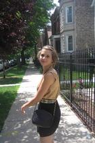 thrifted blouse - Target skirt - thrifted belt - thrifted purse - estate sale ne