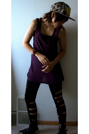 truly madly deeply top - Gap top - h&mdiy leggings - Puma boots - bracelet