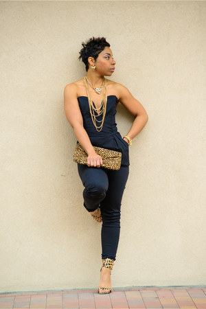 gold just fab heels - black Image jumper - gold Forever 21 necklace