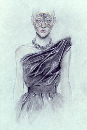 lanvin dress - lanvin necklace