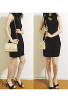 gold Lovisa ring - black Forever New dress - gold Colette bag