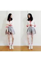 white portmans blazer - pink Country Road blouse