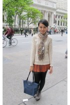 Urban Outfitters sweater - Urban Outfitters boots - new look scarf