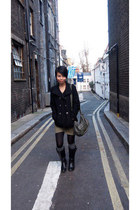 Forever 21 boots - H&M dress - Primark coat - Charlotte Russe bag