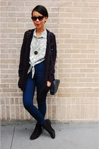 Topshop jeans - H&M shoes - Primark sweater - Topshop sunglasses