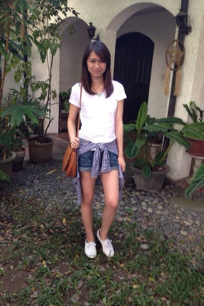 white white leather Keds sneakers - tawny Mumi Bag bag