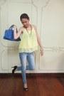 Blue-tomato-bag-light-yellow-sheer-forever-21-top