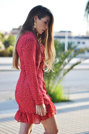 red stars print zaful dress