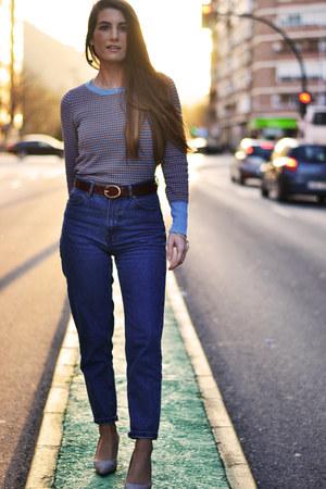 turquoise blue Zara sweater