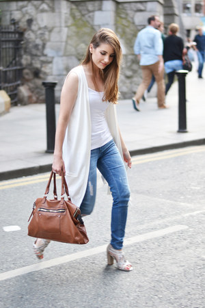 white Zara vest