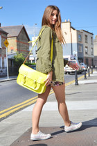 yellow Stella Ritwagen bag - olive green Zara jacket - salmon Zara skirt