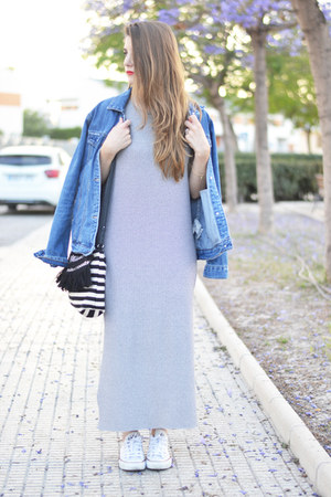 navy pull&bear dress