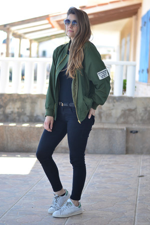 army green shein jacket