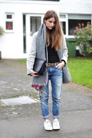 heather gray pull&bear coat