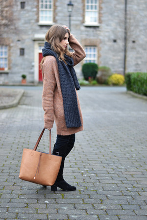 brown Zara cardigan
