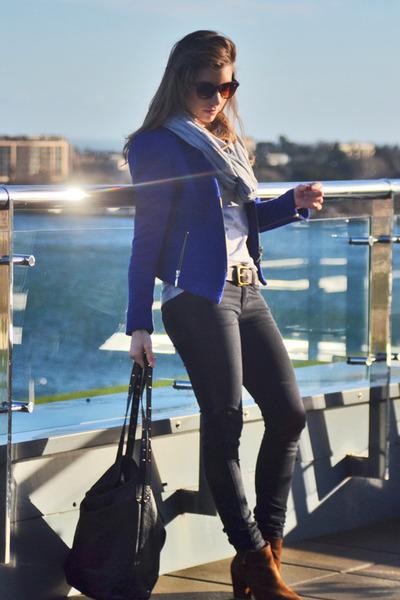 Zara boots - Forever 21 jeans - Zara blazer