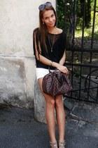 H&M shirt - Louis Vuitton bag - Zara shorts