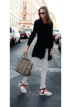 tan Zara pants - light brown Celine bag - neutral DIY sunglasses