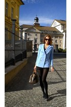 periwinkle H&M blazer - brown Louis Vuitton bag - black Zara shorts