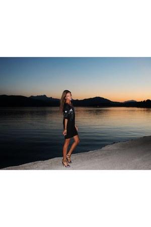 black Ayoxx dress - silver Zara heels