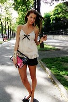 Relish blouse - DKNY bag - Zara shorts - Prada sunglasses