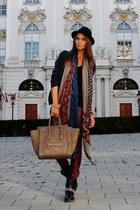 H&M hat - Steve Madden boots - Zara jacket - Celine bag - H&M pants