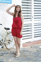 ruby red loose fit Zara romper