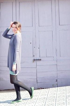 violet loose Antonieta jumper - aquamarine printed dress