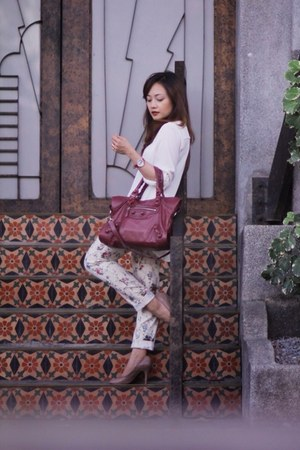 balenciaga bag - maldita pants - J Crew pumps - sm department store blouse