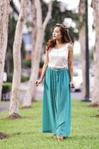 Nava skirt - Plains & Prints shirt - Forever 21 wedges