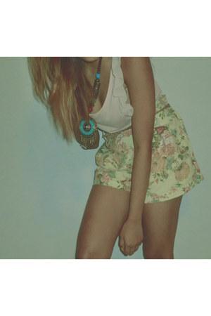 vintage shorts - supre top