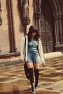 Black-topshop-bag-vintage-cardigan-gray-boots-blue-topshop-dress-black-v