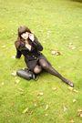 Black-topshop-coat-brown-thrifted-shoes-blue-ebay-shirt-black-vintage-bag