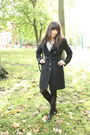 Black-topshop-coat-brown-thrifted-shoes-blue-ebay-shirt-black-vintage-bag