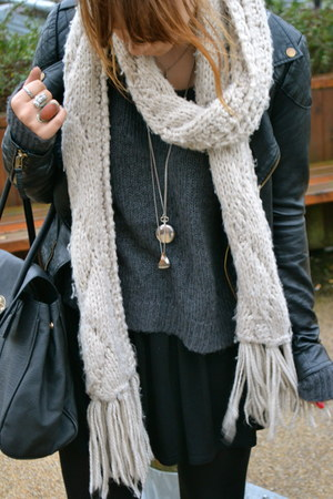 H&M jumper - H&M boots - Topshop dress - Miss Selfridge jacket - H&M scarf