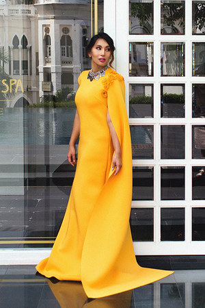 mustard gown Fiziwoo dress