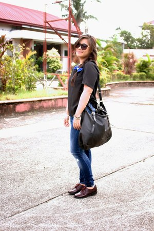 black The Ramp shirt - crimson brogues Payless shoes - black Mango bag