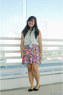 Floral-print-forever-21-dress-denim-next-jeans-top-black-black-shoebox-flats
