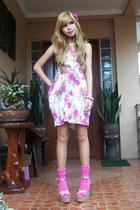 floral Singapore dress - floral tonic heels