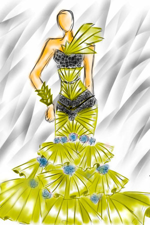 gold silk dress - black lace dress