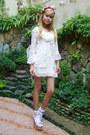 Forever-21-dress-floral-diy-hat-floral-tonic-heels