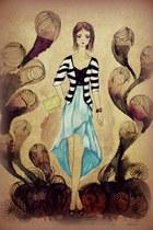 black suede Giussepe Zanotti pumps - light blue chiffon Spoiledbrat dress